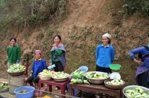 vendeuse route Quan Ba -Meo Vac