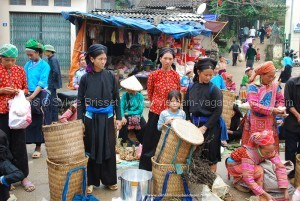 marché de Xi Man nord vietnam