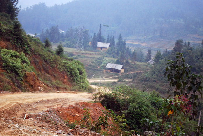 route  Ha Giang  - Bac Ha Vietnam