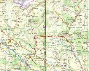 route BacQuang – QuangBinh – PhoRang