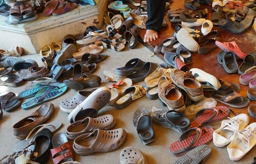 enlever ses chaussures au vietnam
