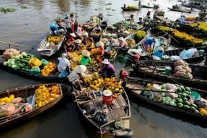 visiter le vietnam en 15 jours marché-flottant-cai-be