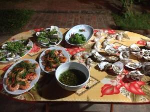 repas de crustacé delta du fleuve rouge