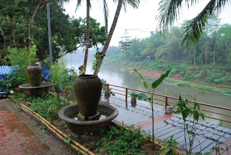 bord du mékong Luang Prabang Laos