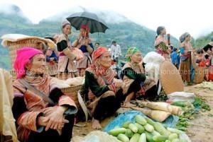 marche Cao Son- circuit sur mesure vietnam avec enfants