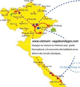 circuit avec enfants et sur mesure au Vietnam