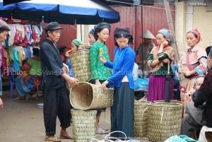 visite  marché de Xi Man nord vietnam