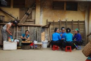 Repas de légumes frits à Xi Man vietnam