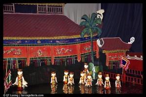 marionnettes sur eau Hanoi - voyage avec enfants