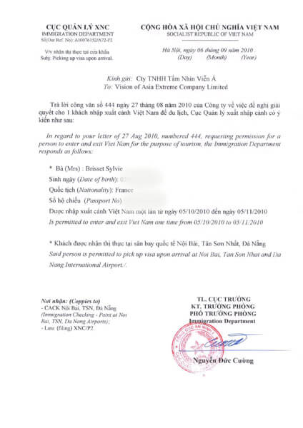 demande-visa arrivee-Previsa