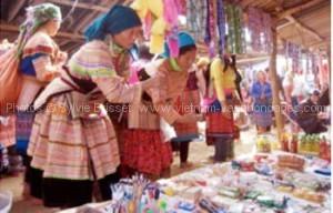 marché Coc Ly 1circuit Vietnam avec enfants