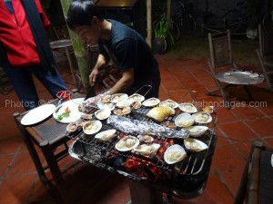 barbecue coquilages circuit delta fleuve rouge