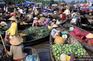 18 jours voyage au Vietnam delta du Mékong, Can Tho, marché flottant Cai Rang