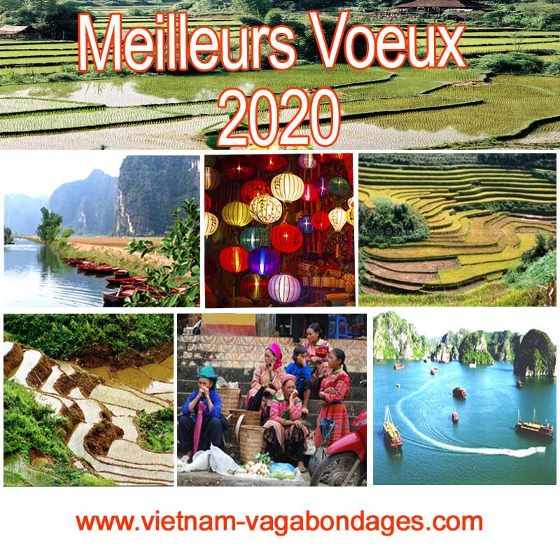 Meilleurs vœux 2020,voyages au Vietnam, Laos, Cambodge et Birmanie